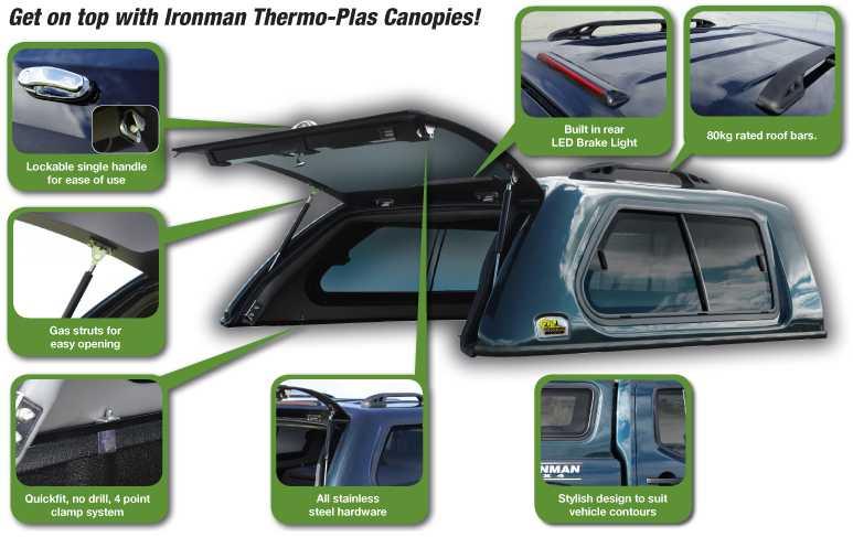 Ironman 4x4 Ute Canopy Suitable For Mitsuibishi Triton Mq
