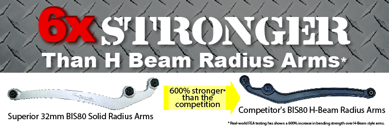 600% Stronger then H-Beam Radius Arms