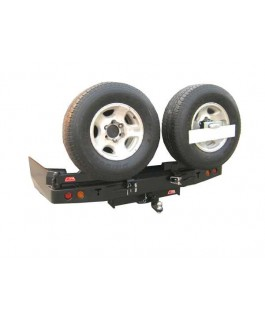 MCC 4x4 Rear Bar with Dual Wheel Carrier Suitable For Toyota Landcruiser 76/78/79 Series V8 only