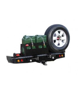 MCC 4x4 Rear Bar with Wheel Carrier and Dual Jerry Can Holder Suitable For Isuzu Dmax 2012 on