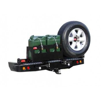 MCC 4x4 Rear Bar with Wheel Carrier and Dual Jerry Can Holder Suitable For Toyota Landcruiser 100 Series IFS