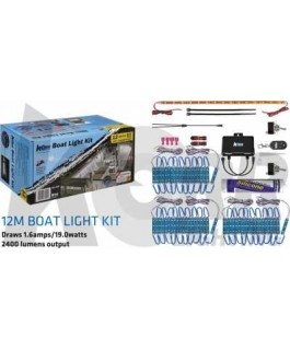 LED Boat Light Kit White/Blue 12 Meters
