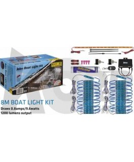 LED Boat Light Kit White/Blue 8 Meters