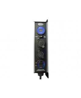 Baintech Surface Mount Cigarette/Merit/Single USB/LCD Volt Meter Quad Universal Panel