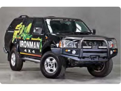 Ironman 4x4 Black Commercial Bull Bar - Nissan Navara D22