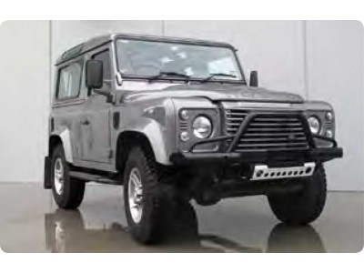 Ironman 4x4 Black Commercial Bull Bar (Tube Style) - Land Rover Defender (2007 on)