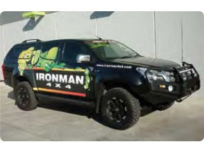 Ironman 4x4 Black Commercial Bull Bar - Isuzu D-Max (2012-16)