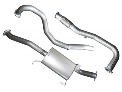 Superior Exhaust System 2 x 2.5 into 1 x 3 Inch Suitable For Toyota Landcruiser 200 Series(4.5lt Twin Turbo with Muffler)