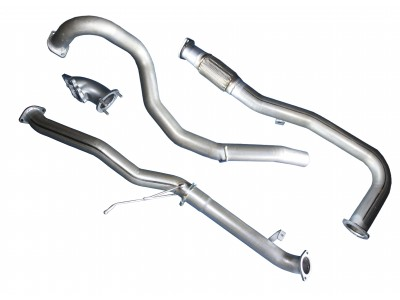 Superior Exhaust System 2 x 2.5 into 1 x 3 Inch Suitable For Toyota Landcruiser 200 Series(4.5lt Twin Turbo without Muffler)