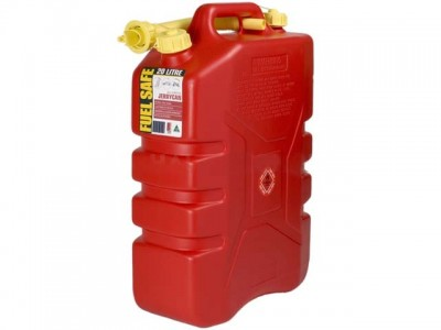 20L Plastic Jerry Can (Red)