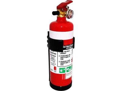 1.0kg Fire Extinguisher 1A:10BE (Plastic Bracket)