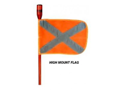 Ironman 4x4 High Mount 2.4m Flag (with Red LED)