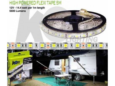 LED Light Flexi Tape High Powered 5 Meters