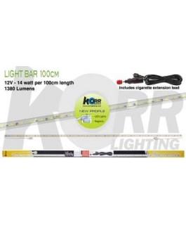 LED Light Bar 100cm White + Cigarette Plug