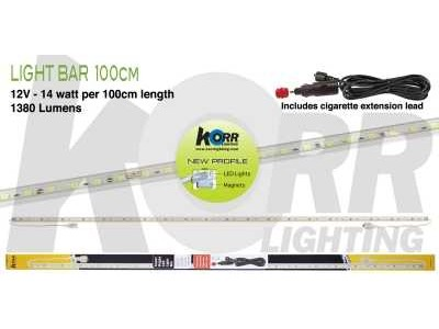 LED Light Bar 100cm White + Cigarette Plug