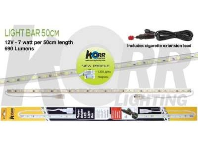 LED Light Bar 48cm White + Cigarette Plug