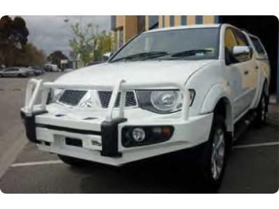 Ironman 4x4 Black Commercial Bull Bar - Mitsubishi Triton MN (2009 on)