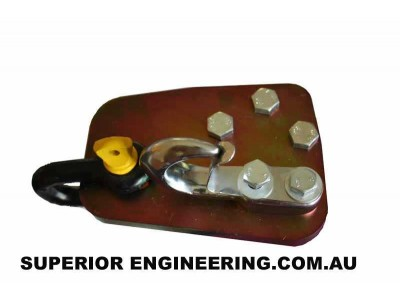 Superior Heavy Duty Rated Towing Point Nissan Patrol GQ/GU (With Hook and Bow Shackle)