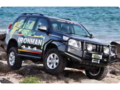 Ironman 4x4 Black Commercial Bull Bar - Suitable For Toyota Prado 150 Series (2009-13)