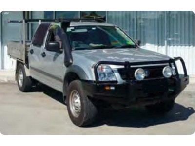 Ironman 4x4 Black Commercial Bull Bar - Holden Rodeo RA7(2007-2008)