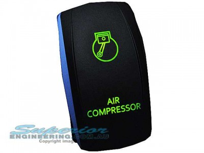 Rocker Switch Air Compressor Green LED