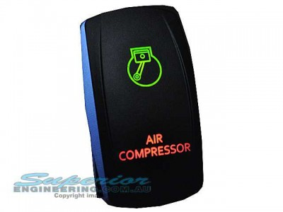 Rocker Switch Air Compressor Red Green LED