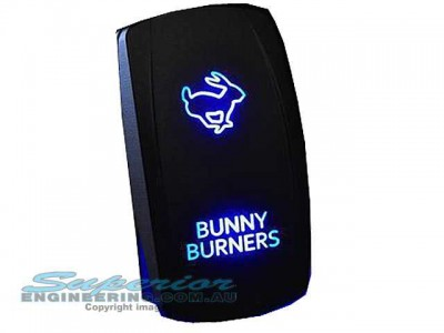 Rocker Switch Bunny Burners Blue LED