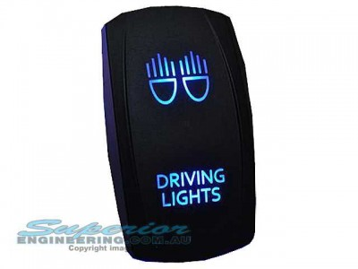 Rocker Switch Driving Lights Blue LED
