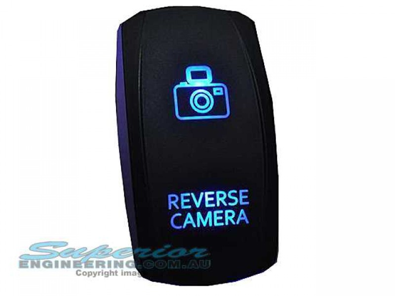 Rocker Switch Reverse Camera Blue LED  Superior Engineering