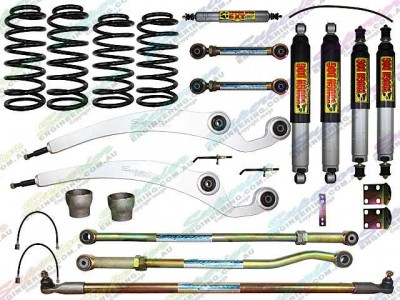 Superior Dropped Radius 6 Inch Lift Kit Nissan Patrol GQ with Tough Dog Shocks