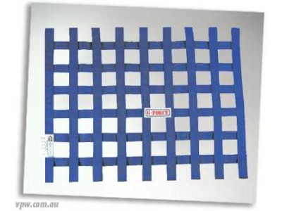 GFORCE RIBBON WINDOW NET BLUE SFI-27.1