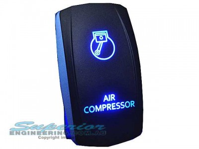 Rocker Switch Air Compressor Blue LED