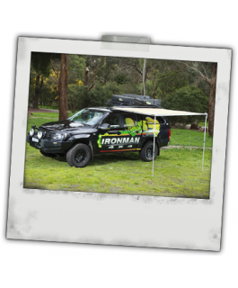 Ironman 4x4 Instant Awning(1.4m(L) x 2m(out)(inc. Brackets)
