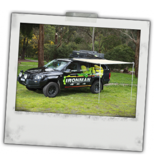 Ironman 4x4 Instant Awning(2m(L) x 2.5m(out)(inc. Brackets)