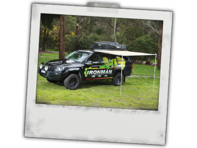 Ironman 4x4 Instant Awning with LEDs(2.5m(L) x 2.5m(out)(inc. Brackets)