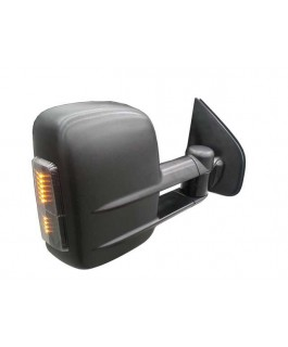 Clearview Tow Mirrors Suitable For Grand Cherokee 2010 on (Black with Indicators, Memory and BSM)
