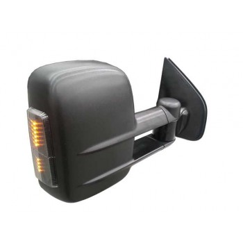 Clearview Tow Mirrors Suitable For Mitsubishi Challenger/Triton (Black with Indicators)