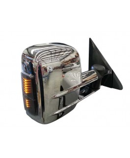 Clearview Tow Mirrors Suitable For Mitsubishi Pajero 2001 on (Chrome with Indicators)