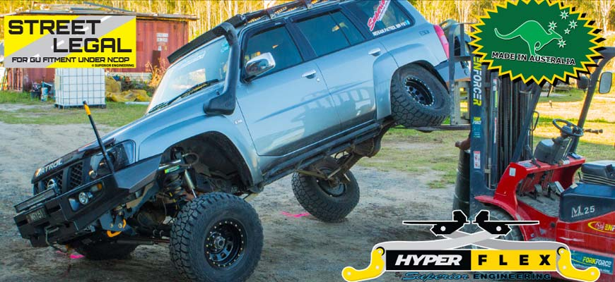 Hyperflex Hybrid Radius Arm with Drop Boxes to suit the Nissan Patrol GQ/GU