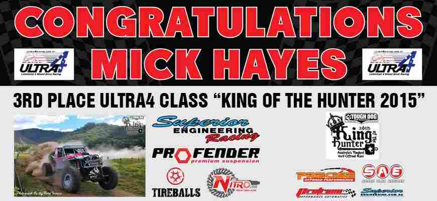 Third Place Finish King Of The Hunter 2015