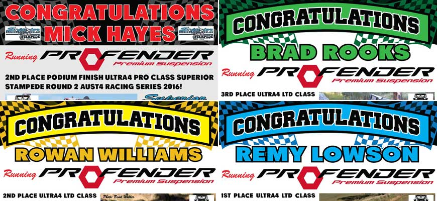 Superior Stampede Ultra4 Racing Series 2016 Results