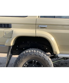 Superior Fiberglass Extended Guard Flares +50mm Suitable For Toyota Landcruiser 76 Rear