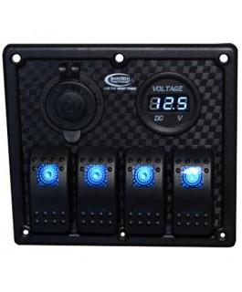 Baintech 4 Way Switch Panel (Blue LED)