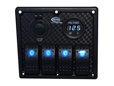 Baintech 4 Way Switch Panel (Blue LED)