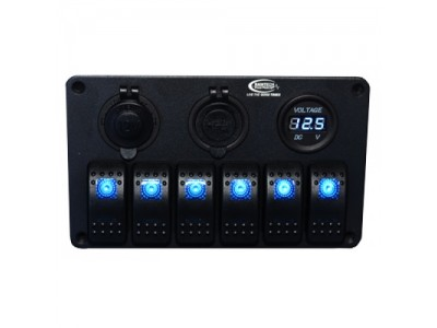 Baintech 6 Way Switch Panel (Blue LED)