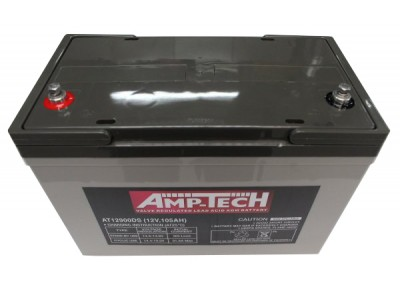 Supercharge AMP-TECH AGM SLA 12V DEEP CYCLE 105AH
