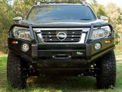 Ironman 4x4 Black Commercial Bull Bar - Nissan Navara D23