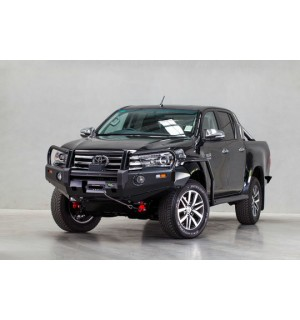 Toyota Hilux(2015 on) Ironman 4x4 Deluxe Black Commercial Bull Bar