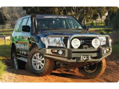 Ironman 4x4 Black Commercial Bull Bar - Suitable For Toyota Landcruiser 200 Series (2012-15)