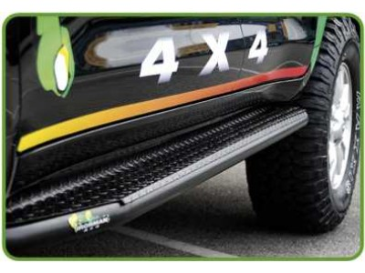 Ironman 4x4 Steel Side Steps Suitable For Nissan Navara D23